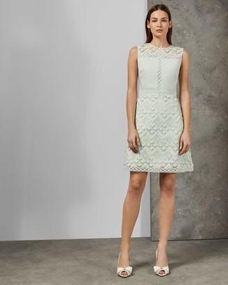 Ted Baker A-line Geo Lace Dress
