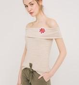 Promod Ballerina neckline glitzy top