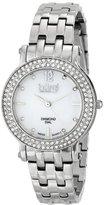 Burgi Women's BUR079SS Swiss Quartz Crystal Stainless Steel Bracelet Watch