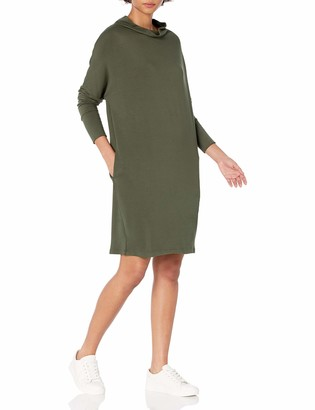 Daily Ritual Amazon Brand Women's Supersoft Terry Oversized-Fit Modern Funnel-Neck Dress