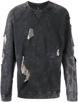 Versus distressed sweatshirt - men - Cotton/metal - M