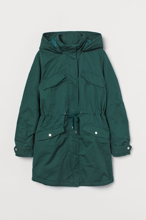 Thumbnail for your product : H&M Cotton Twill Parka - Green