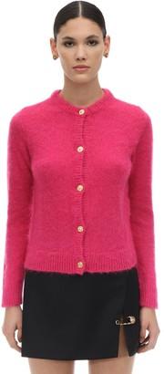 Versace Mohair Blend Knit Cardigan