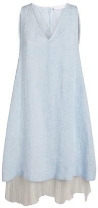 Fabiana Filippi Linen Pleated-Trim Dress