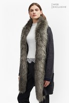 French Connection Double Sided Faux Fur Vhari Coatigan