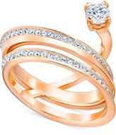 Swarovski Crystal Pavé Multi-Row Chaton Statement Ring