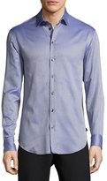 Armani Collezioni Fancy Cotton Sport Shirt, Blue