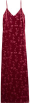 Elizabeth and James Valerie Glittered Velvet Gown - Burgundy