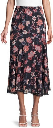 Supply & Demand Floral-Print Midi Skirt