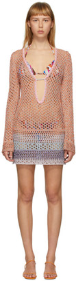 Emilio Pucci Multicolor Metallic Crochet Short Dress