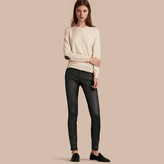Burberry Skinny Fit Low-rise Wax Coated Jeans