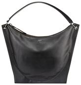 DKNY Item Moulded Leather Hobo Bag, Black