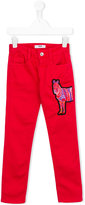 MSGM embroidered horse trousers - kids - Cotton/Spandex/Elastane - 6 yrs