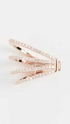 Ef Collection 14k Diamond Cage No Piercing Earcuff