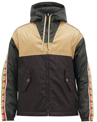 Gucci GG-jacquard Shell Hooded Jacket - Brown Multi