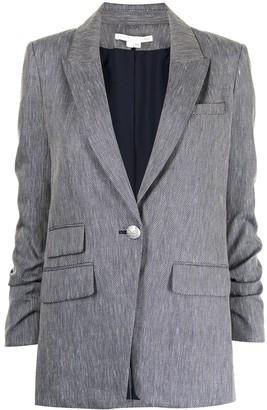 Veronica Beard Martel herringbone single-breasted blazer