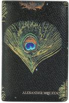 Alexander McQueen peacock feather print wallet