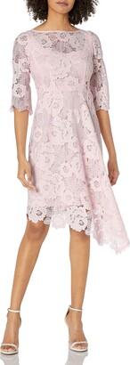 Nanette Lepore Women's bailamos Long Sleeve lace Asymetrical Hem Dress