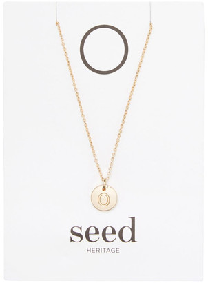 Seed Heritage Initial Disc Necklace