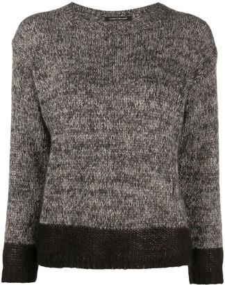 Luisa Cerano Two-Tone Round Neck Sweater