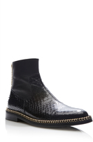 Lanvin Shiny Python Chain Boots