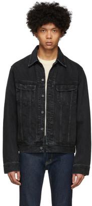 Moussy Black Denim Oversize Jacket