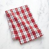 Crate & Barrel Stitched Plaid Dish Towel