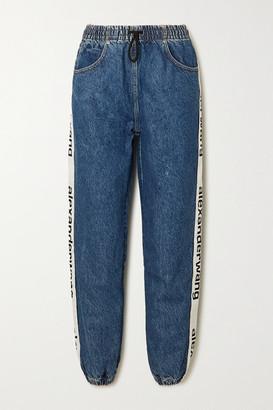 Alexander Wang Webbing-trimmed Jeans - Mid denim