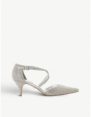 Dune Captivated crystal-embellished kitten heels