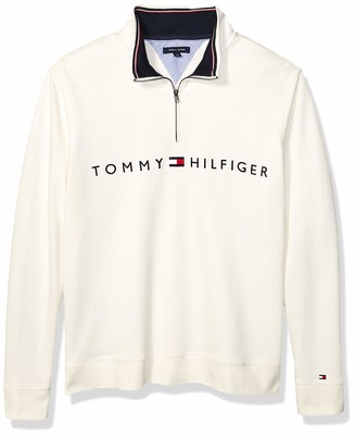 Tommy Hilfiger Men's Big and Tall 1/4 Zip Pullover Sweater