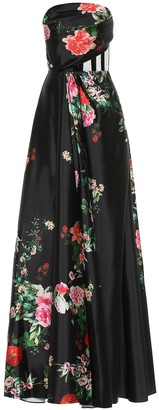 Alex Perry Archer floral satin dress