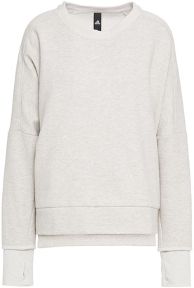 adidas Melange Cotton-blend Jersey Sweatshirt