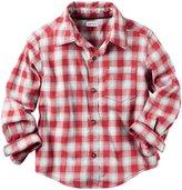 Carter's Button Down Shirt (Toddler/Kid) - Plaid - 8