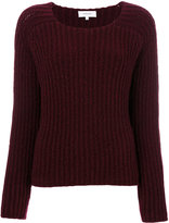 Carven embroidered knitted top - women - Polyamide/Spandex/Elastane/Wool - XS