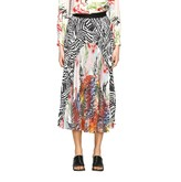 Missoni Skirt Pleated Skirt With Patchwork Patterns