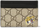 Gucci Supreme Printed Coated-Canvas and Leather Cardholder