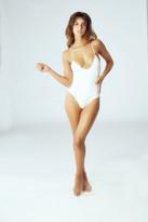 Leah Shlaer Swimwear - The Classic Colette Bodysuit /Venice White