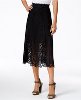 Rachel Roy Floral-Lace Midi Skirt, Only at Macy's