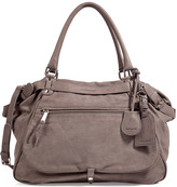 Vanessa Bruno Leather Tote with Shoulder Strap in Cement