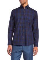 Toscano Plaid Patch Pocket Sport Shirt
