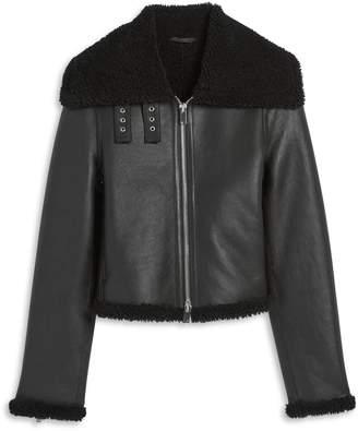 Theory Shearling Moto Jacket