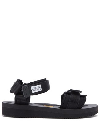 Suicoke Cel-v Two-strap Neoprene Sandals - Black