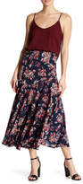 Angie Floral Print Maxi Skirt