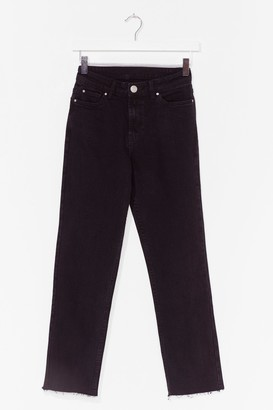 Nasty Gal Womens Cropped Mom Jeans - Black - 8