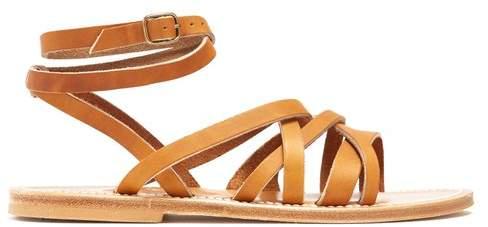 K. Jacques Aphrodite leather sandals