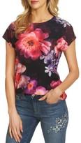 CeCe Women's Floral Knit Tee