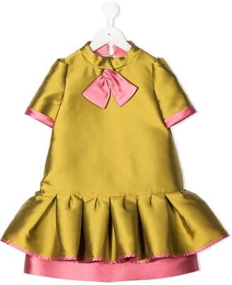 Mi Mi Sol Bow Detail Peplum Dress