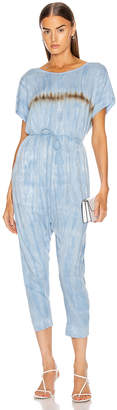 Raquel Allegra Jumpsuit in Blue Stripe Tie Dye | FWRD
