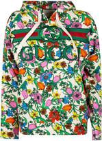 Gucci Logo Floral Print Hoodie