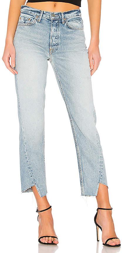 GRLFRND Carmen High-Rise Straight Leg Jean.